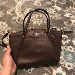 Petite Brown Leather Coach Purse